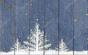 Абстрактный зимний пейзаж