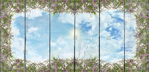 Небо с узором из цветов