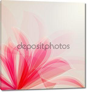 Розовый цветок на светлом фоне