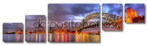 Гавань Сиднея, оперный театр и мост