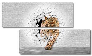 Леопард из стены