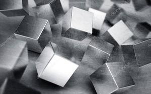 Кубы из серого металла