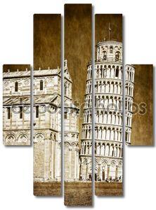 Падающая Пизанская башня Винтаж