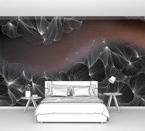 Lusso-переплетение черно-белых линий на коричневом