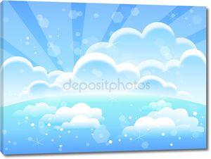 облака, небо