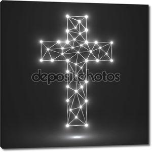 Абстрактные крест. Христианский символ