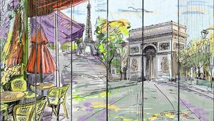 Улочка в центре Парижа