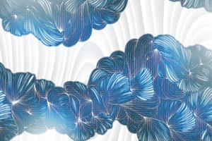 Lusso II-переплетение синих линий на белом
