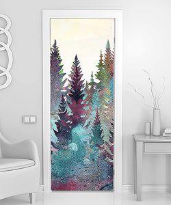 Цветной еловый лес