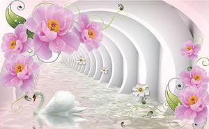 Арочный тоннель с цветами