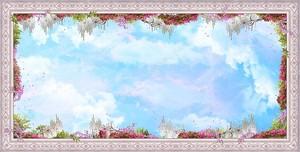 Небо в раме с орнаментом