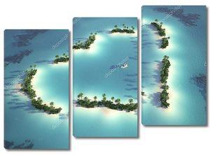 Аэрофотоснимок сердце образный остров