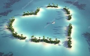 Сердце из островов