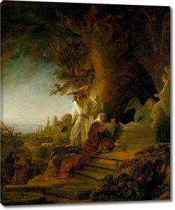 Рембрандт. Христос является Марии Магдалине у гроба