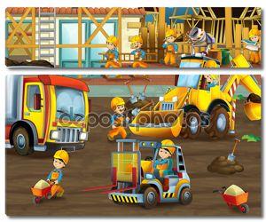 Дети на строительной площадке