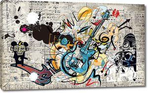 Рисованная гитара