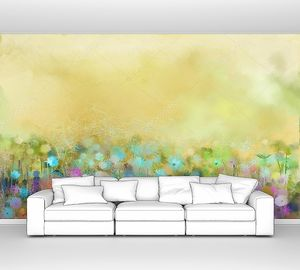 Абстрактная живопись полевых цветов