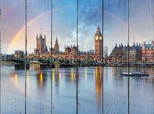 Лондон, с Радуга - дома парламента - Биг Бен.