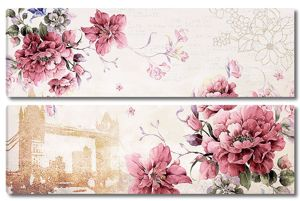 Цветы с силуэтом Тауэрского моста