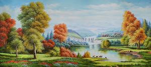 Лес по берегу реки