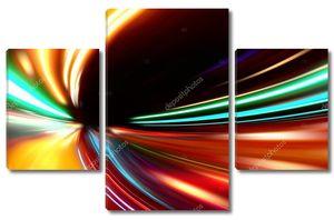 Абстрактный ускорение скорости движения на дороге ночью