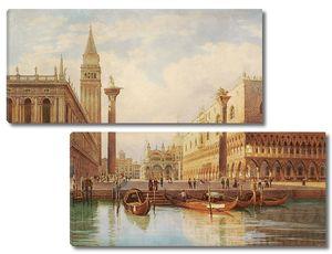Пристань с лодками в Венеции