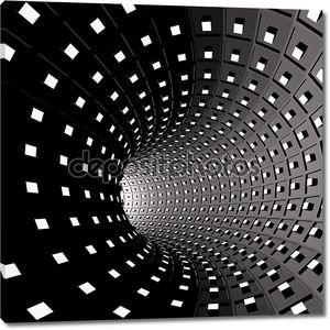 Абстрактный фон. Иллюстрация, 3d туннеля с квадратами