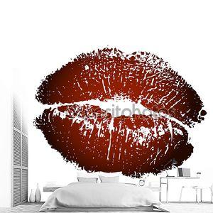 Векторная иллюстрация коричневый поцелуй печати