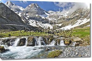 Живописный вид Мейлетт плато в французских Пиренеях