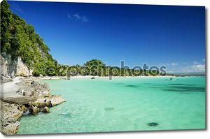 Остров Боракай тропических diniwid Бич в Филиппины