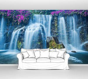 Красивый пейзаж водопада