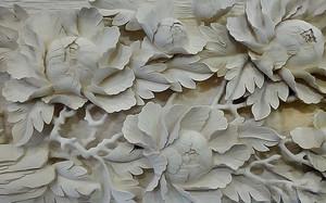 Объемные гипсовые цветы