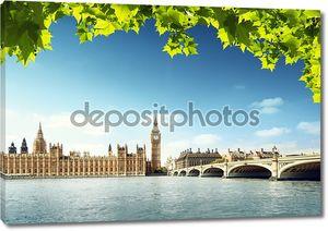 Биг Бен в Солнечный день, Лондон
