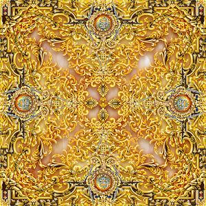 Богатый золотой орнамент