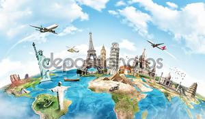 Путешествия концепции памятника мира