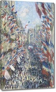 Моне Клод. Париж, праздник 30 июня 1878