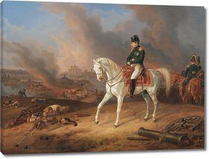 Адам Альбрехт. Наполеон на фоне горящего Смоленска
