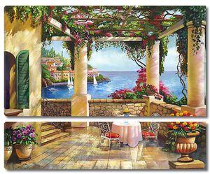 Прекрасная терраса со столиком и цветами