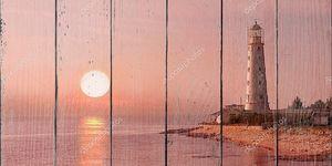 Маяк и закат