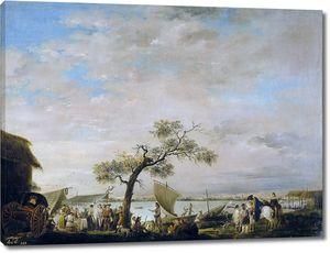 Карнисеро Антонио. Вид на лагуну Альбуфера в Валенсии