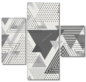 Абстрактный фон из  серых треугольников
