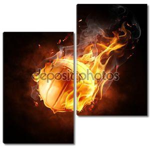 Волейбольный мяч в огне
