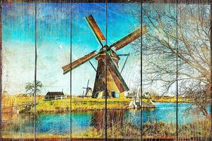 Ветряные мельницы Голландии - произведениями искусства в стиле живописи