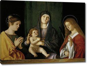Джованни Беллини. Мадонна с младенцем между двумя святыми