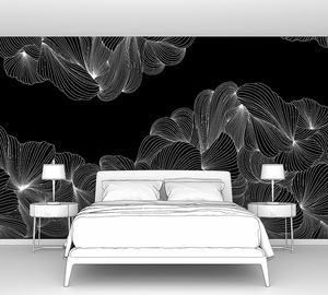 Lusso-переплетение белых линий на черном