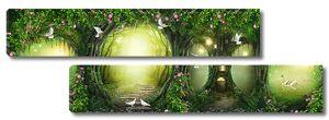 Лесные норы с фонарями