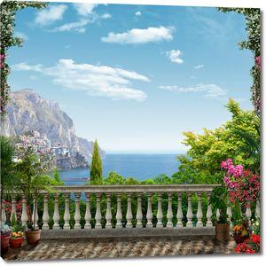 Вид на море с высокой террасы