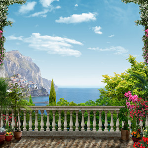 Вид на море с террасы