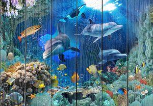 Яркий подводный мир с дельфинами