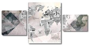 Континенты из газетных вырезок